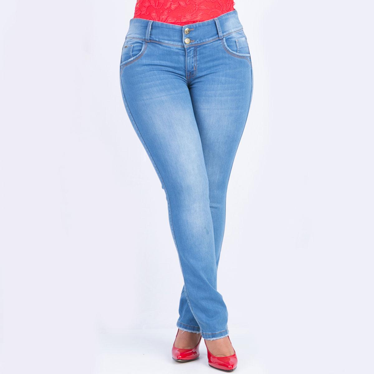 274d1ccc99 Jean bota recta para mujer big size Farichi Studio tiene una característica