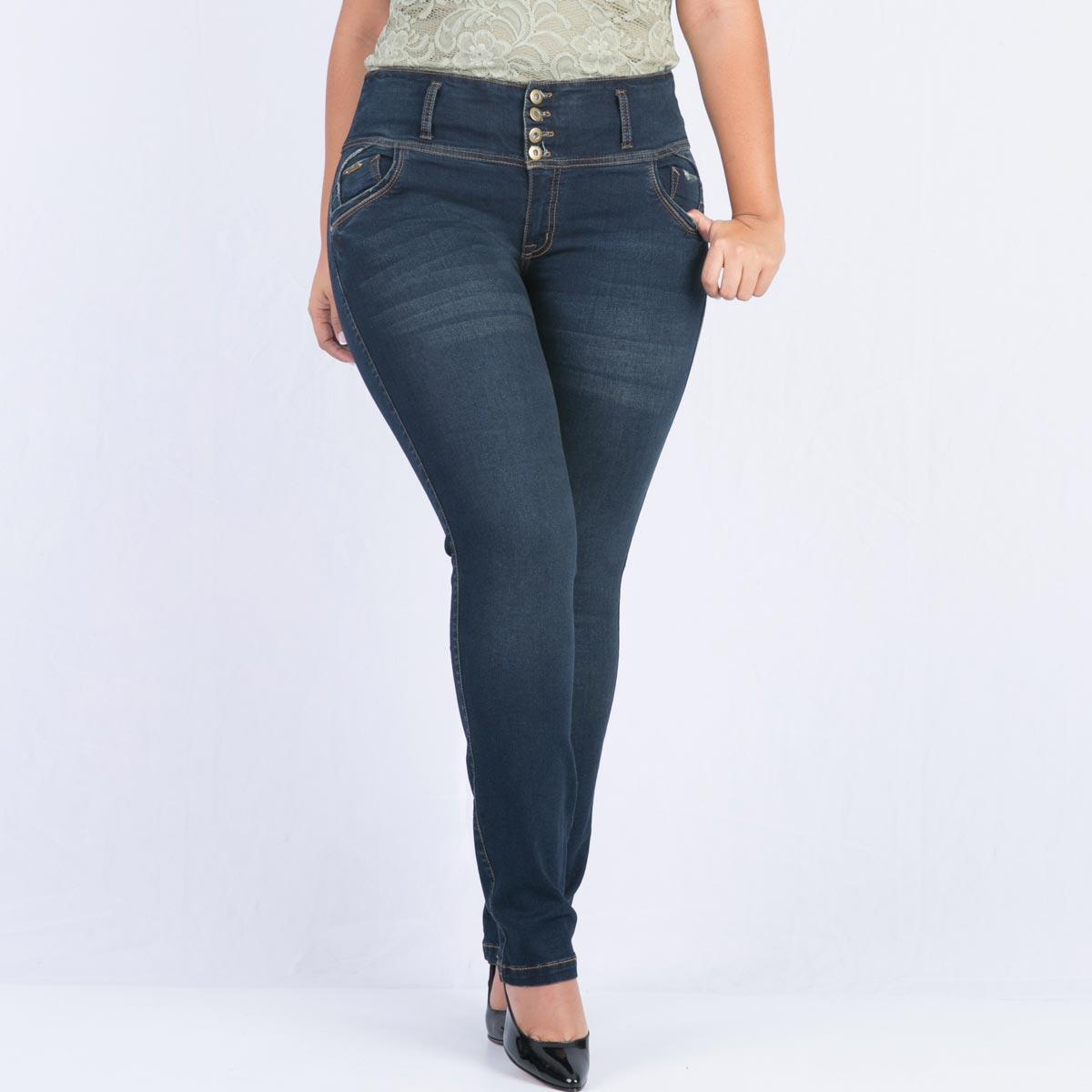 42e05b197e Jean control abdomen para mujer talla plus