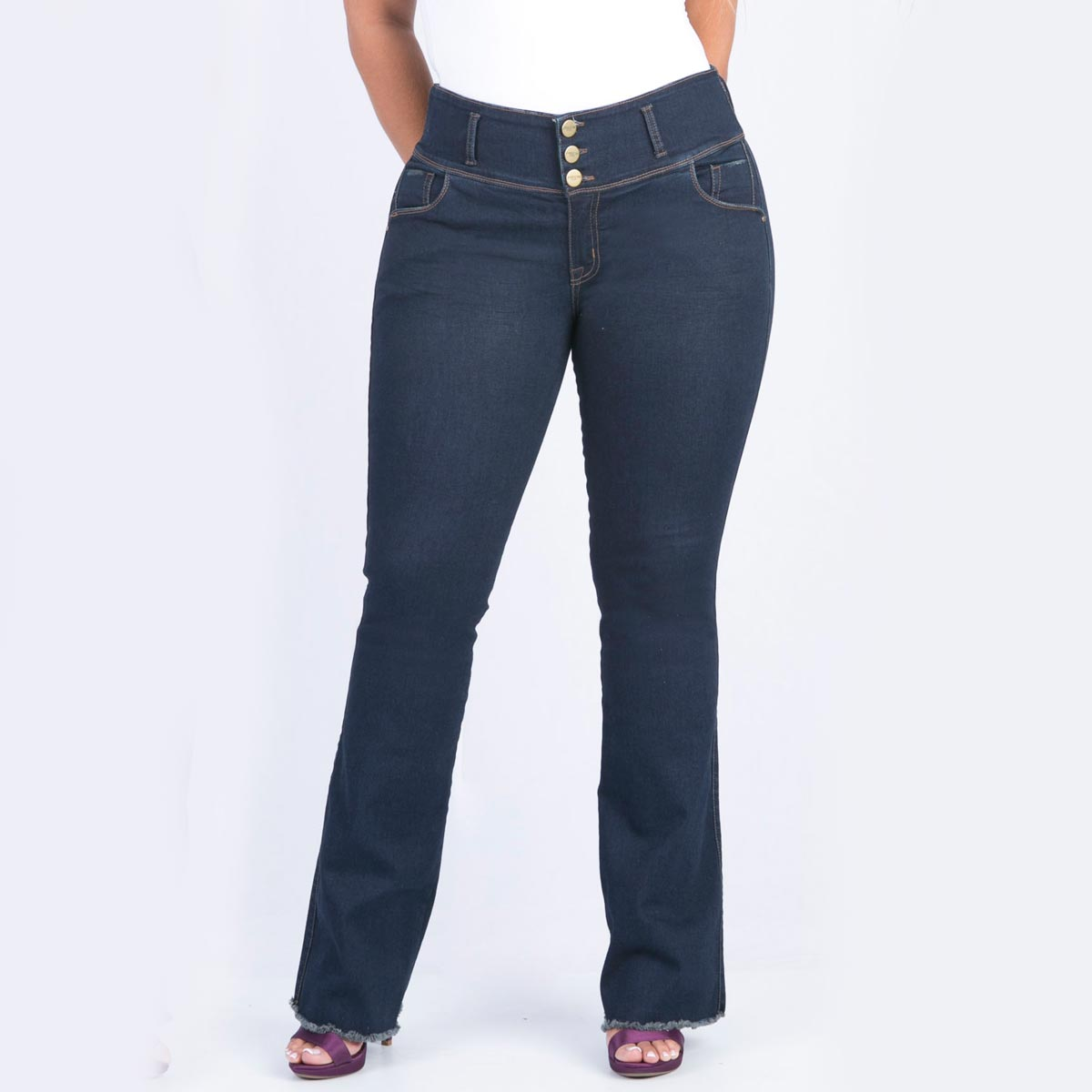 127e14bd9 Jean bota semicampana para mujer tallas grandes