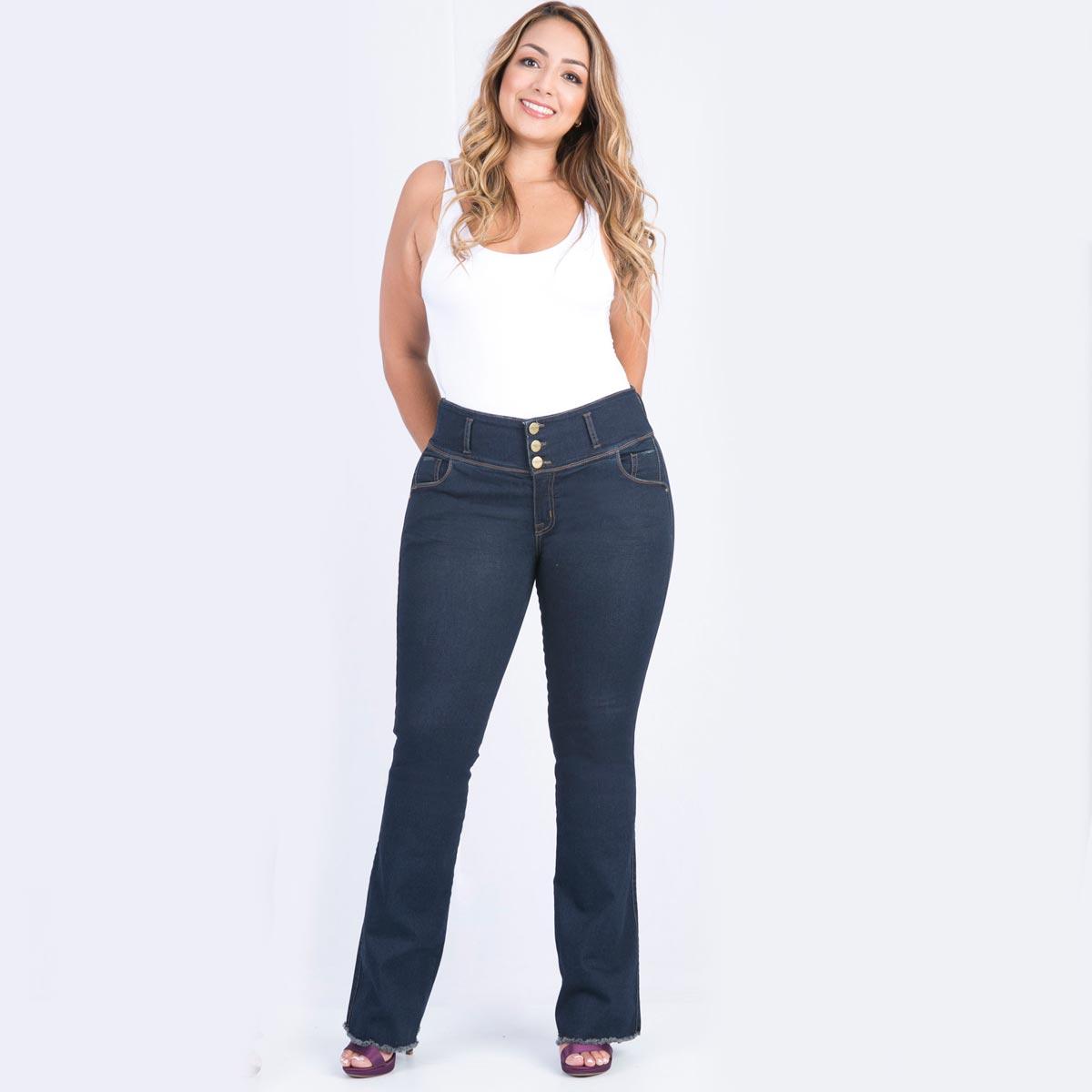 9e784cc97f Jean bota semicampana para mujer tallas grandes Farichi Studio tiene una  característica