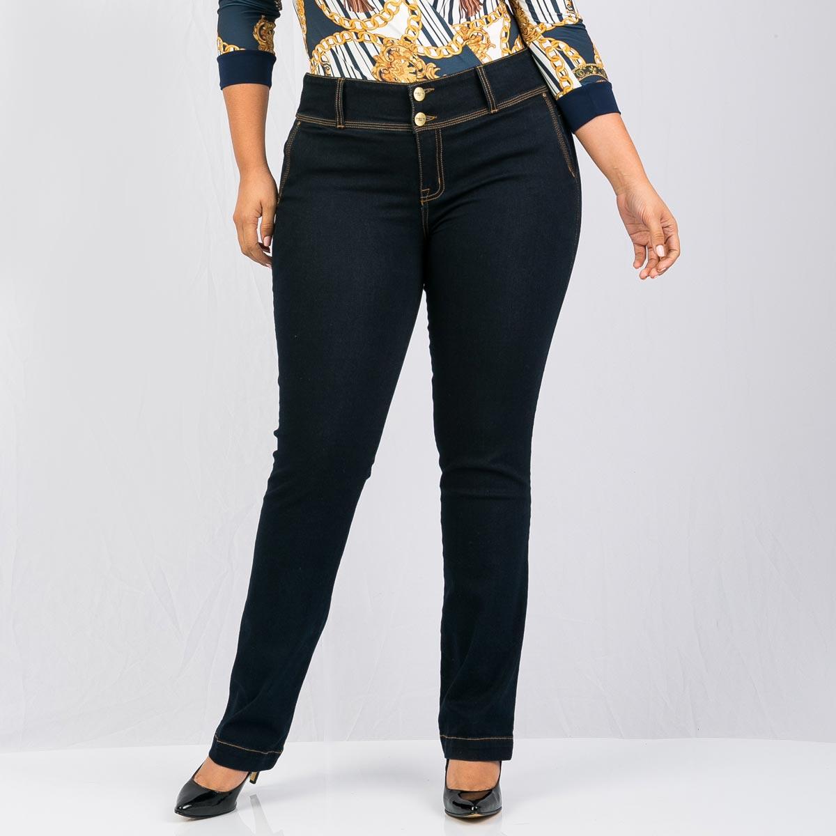 fe549f43bf Jean bota recta para mujer tallas grandes
