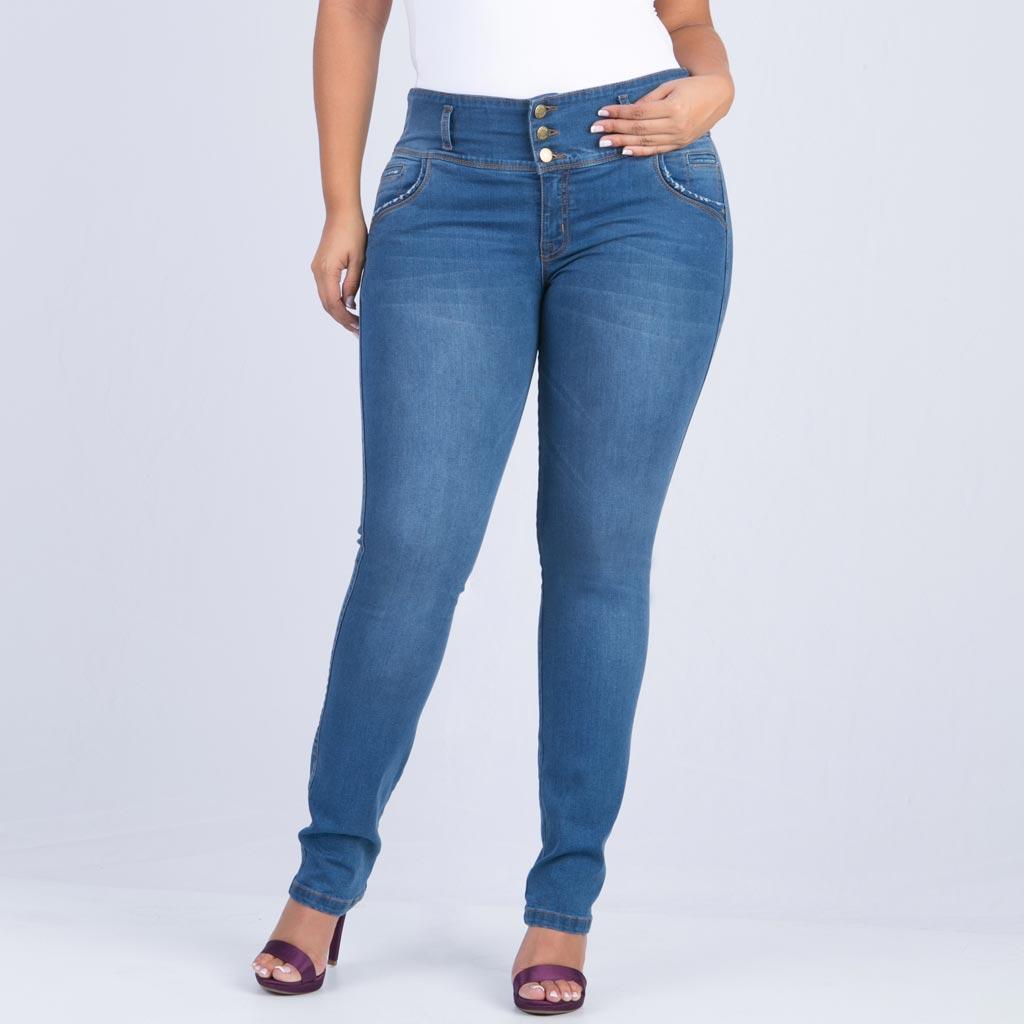 Jean Super Pretina Tallas Grandes Farichi Studio Jeans Para Mujer